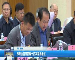 市政协召开四届十四次常委会议