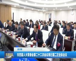 市四届人大常委会第二十二次会议举行第二次全体会议