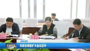 市政协党组扩大会议召开